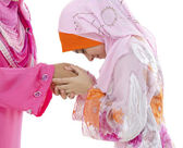 Muslim greeting — Stock Photo