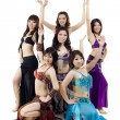 Stock Photo: AsiBelly dance troupe