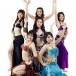 Asian Belly dance troupe — Stock Photo