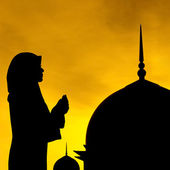 Muslim prayer and mosque — Stock Photo