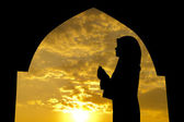 Muslim praying in mosque — Stock Photo