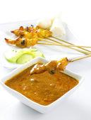 Chicken satay — Stock Photo