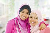 Happy Muslim women — Stock Photo