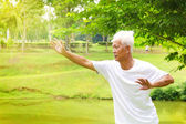 Tai chi senior — Stock Photo