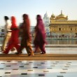Sikh pilgrims — Stock Photo