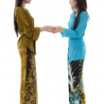 Asian girls greeting — Stock Photo #9528367