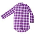 Purple plaid shirt — Stock Photo