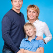 Happy family father, mother and son — Stock Photo