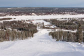 Slope on the skiing resort Rovaniemi, Finland — Stock Photo