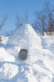 An igloo on a frozen — Stock Photo