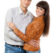 Stock Photo: Portrait of a romantic young couple