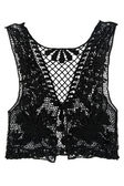 Black women's vest from lace — Stock Photo