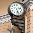 The clock on the wall at the Palace Square — Stock Photo