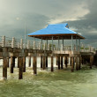Foto Stock: Pier on piles