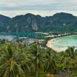 The view from the vantage point on Phi Phi — Stock Photo