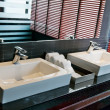 Two square sink in bathroom — Stock Photo #8854955