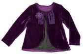 紫色衬衫的女人 — 图库照片