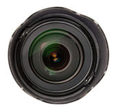 Black lens with a hood — Stock Photo