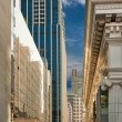 Street metropolis of skyscrapers — Stock Photo
