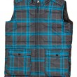 Warm plaid vest — Stock Photo