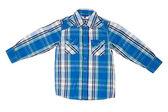He blue checkered shirt — Stock Photo