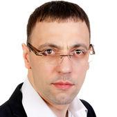 Portrait d'homme d'affaires perplexe au studio — Photo