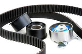Roller and timing belt — Stock Photo