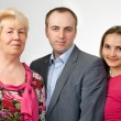 Family portrait, grandmother, son, daughter — Stock Photo #9802674