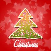 Weihnachtsbaum-karte — Stockfoto