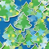Starry night in Christmas forest, seamless pattern — Stock fotografie