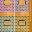 Four Scrapbook-style retro notepad covers — Stockfoto