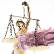 Justice is blind ( ... or maybe not ) - Stock Photo