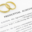 Prenuptial ( premarital ) agreement — Stock Photo #8807291