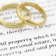 Prenuptial ( premarital ) agreement - Stock Photo
