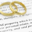 Stock Photo: Prenuptial ( premarital ) agreement