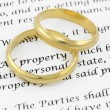Prenuptial ( premarital ) agreement — Stock Photo #8807320