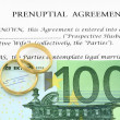 Prenuptial ( premarital ) agreement — Stock Photo #8807429