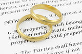 Prenuptial ( premarital ) agreement — Stock Photo