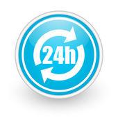 Ikona služby 24h — Stock fotografie