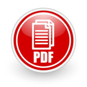 Pdf icon — Stock fotografie