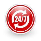 24/7 service icon — Stock Photo