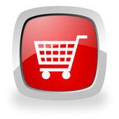 ícone de carrinho de compras — Fotografia Stock