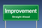 Improvement traffic sign — Stock Photo