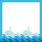 Moře rám — Stock vektor