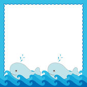 Sea frame — Stock Vector