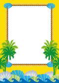 Tropical frame — Stock Vector