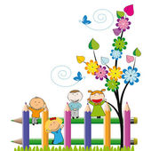 幸せな子供 — ストックベクタ