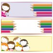 Kids banner — Stock Vector
