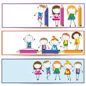 Kinder-banner — Stockvektor