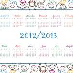 School calendar — Stock Vector #10567132